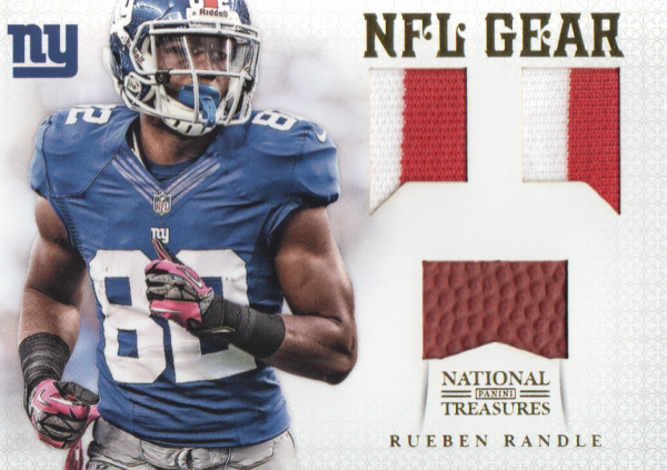 2012 Panini National Treasures NFL Gear Triple Prime #26 Rueben Randle