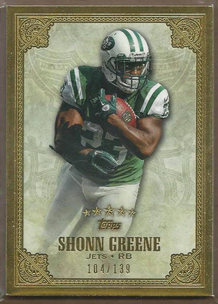 2012 Topps Five Star #98 Shonn Greene