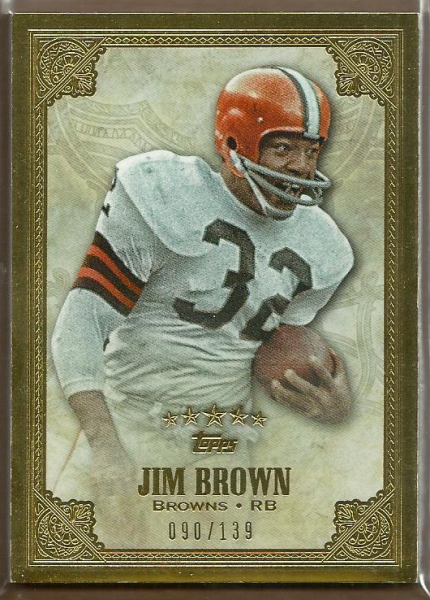 2012 Topps Five Star #100 Jim Brown