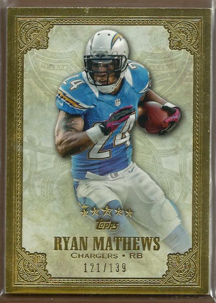 2012 Topps Five Star #124 Ryan Mathews