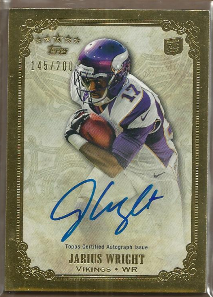 2012 Topps Five Star Rookie Autographs #FSFAJW Jarius Wright/200