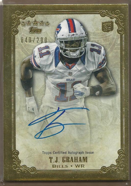 2012 Topps Five Star Rookie Autographs #FSFATJG T.J. Graham/200