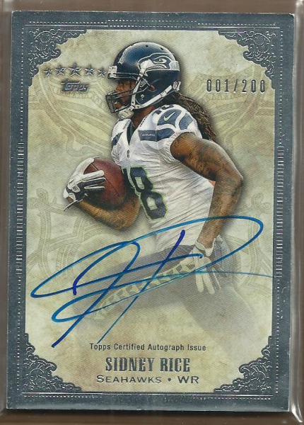 2012 Topps Five Star Veteran Autographs #FSSSR Sidney Rice/200