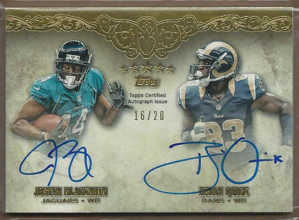2012 Topps Five Star Dual Rookie Autographs #FSFDABQ Brian Quick/Justin Blackmon
