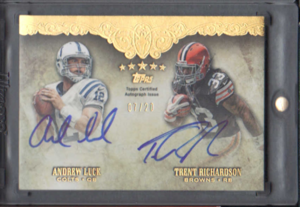 2012 Topps Five Star Dual Rookie Autographs #FSFDALR Trent Richardson/Andrew Luck