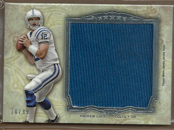 2012 Topps Five Star Jumbo Jerseys #FSJJRAL Andrew Luck