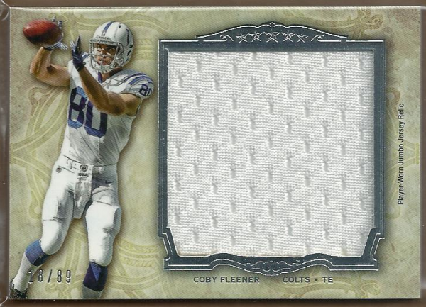 2012 Topps Five Star Jumbo Jerseys #FSJJRCF Coby Fleener