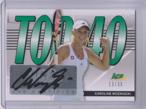 2013 Ace Authentic Top 40 Autographs #T40CW1 Caroline Wozniacki
