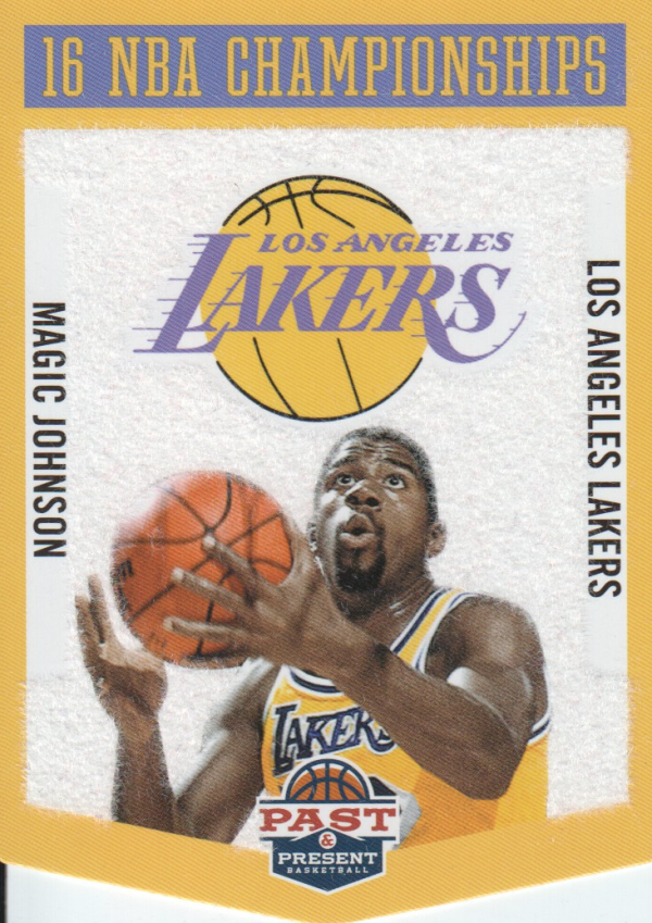 2012-13 Panini Past and Present Championship Banners #20 Magic Johnson