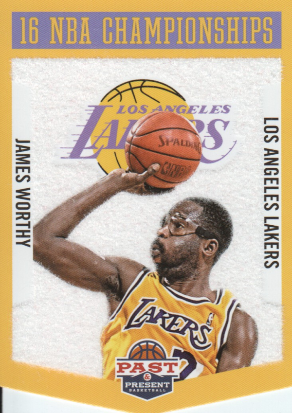2012-13 Panini Past and Present Championship Banners #24 James Worthy