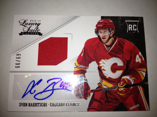 2012-13 Luxury Suite #99 Sven Baertschi JSY AU RC