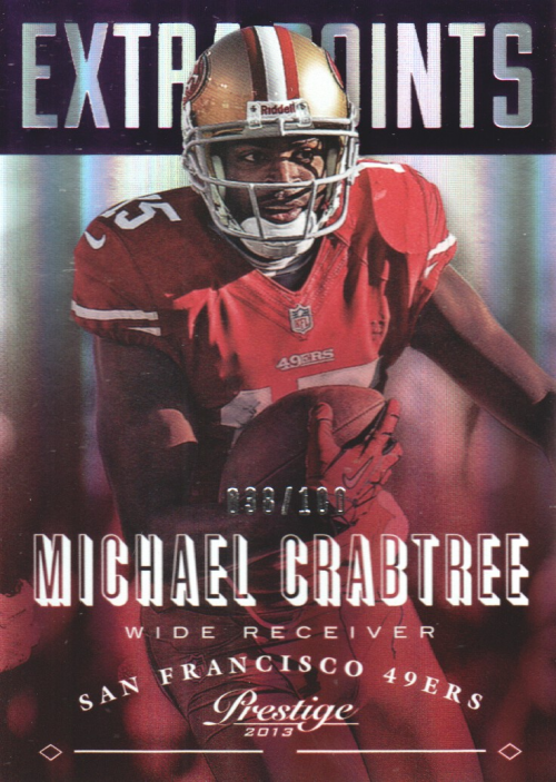 2013 Prestige Extra Points Purple #171 Michael Crabtree