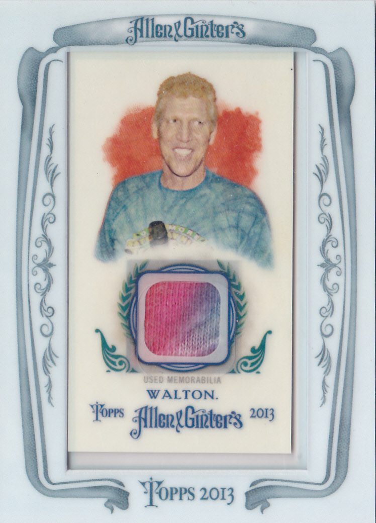 2013 Topps Allen and Ginter Framed Mini Relics #BW Bill Walton