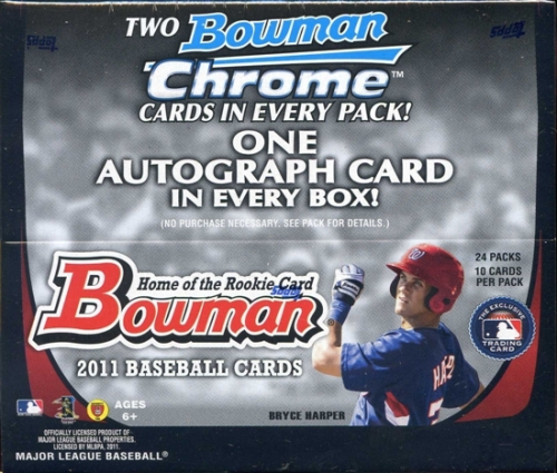 2011 Bowman ( By Topps ) Baseball Factory Sealed Series Box - 1 Autograph ( Possible Bryce Harper ) & 48 Chrome Cards Per Box - WEEKLY SPECIAL - In Stock Now