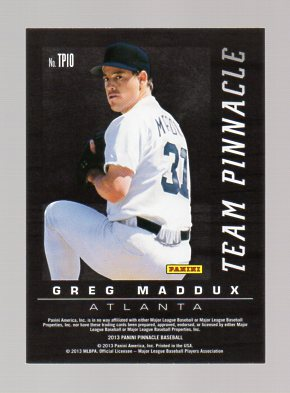 2013 Pinnacle Team Pinnacle #10B Stephen Strasburg/Greg Maddux