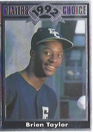 1992 Cartwrights Players Choice #2 Brien Taylor