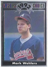 1992 Cartwrights Players Choice #12 Mark Wohlers