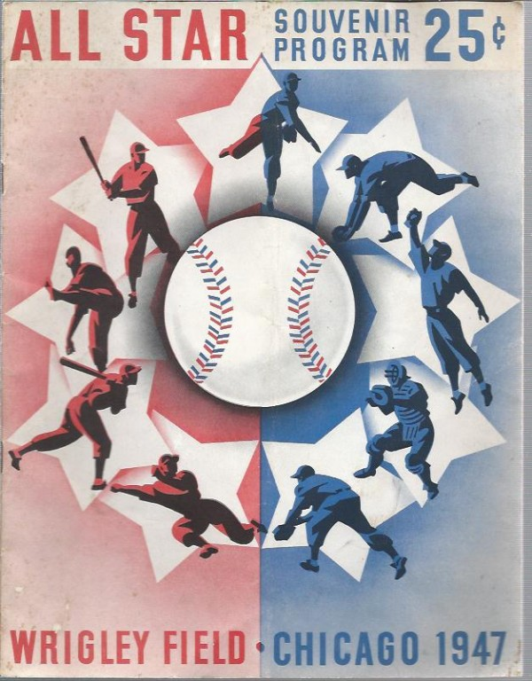 1947 Baseball All-Star Game Program Wrigley Field Chicago