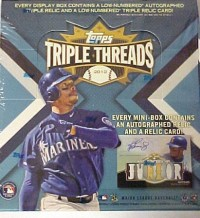 2012 Topps Triple Threads Baseball Hobby Box front image