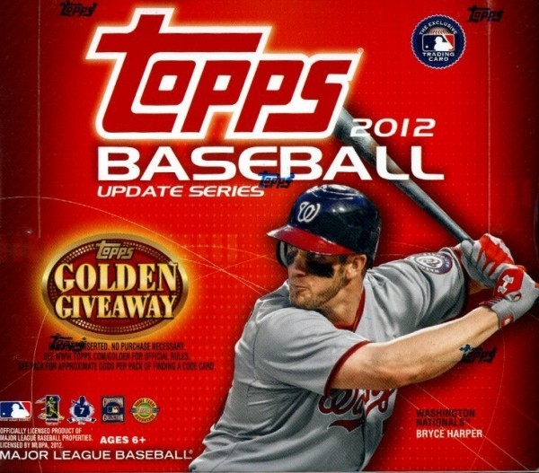 2012 Topps UPDATE Series Baseball JUMBO Box