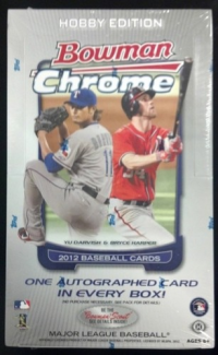 2012 Bowman CHROME Baseball HOBBY Box front image