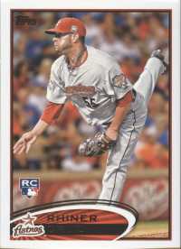 2012 Topps Update MLB Astros Team Set (7 Cards)