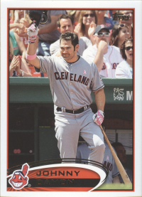 2012 Topps Update MLB Indians Team Set (11 Cards)