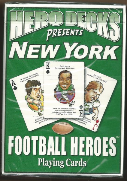 New York Jets NFL Hero Decks Playing Cards Poker Sized 52 Card Deck