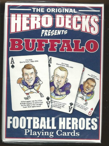 Buffallo Bills Hero Decks Playing Cards Poker Sized 52 Card Deck