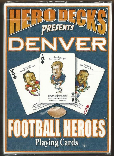 Denver Broncos Hero Decks Playing Cards Poker Sized 52 Card Deck