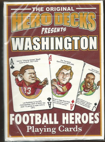Washington Redskins NFL Hero Decks Playing Cards Poker Sized 52 Card Deck