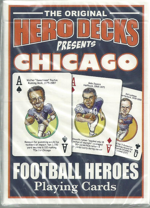 Chicago Bears Hero Decks Playing Cards Poker Sized 52 Card Deck