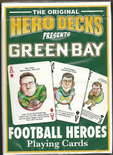 Green Bay Packers Hero Decks Playing Cards Poker Sized 52 Card Deck