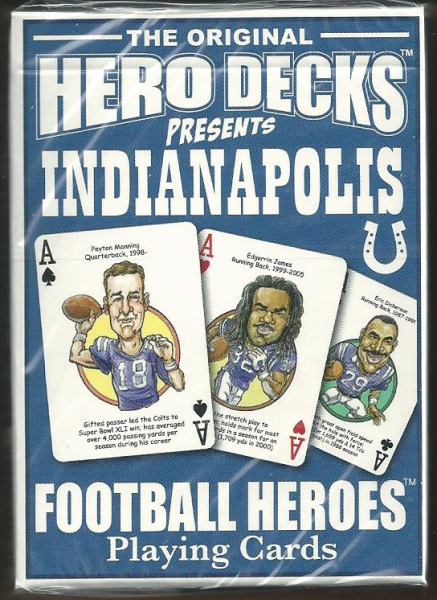 Indianapolis Colts Hero Decks Playing Cards Poker Sized 52 Card Deck