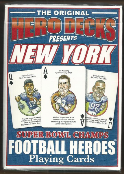 New York Giants Hero Decks Playing Cards Poker Sized 52 Card Deck