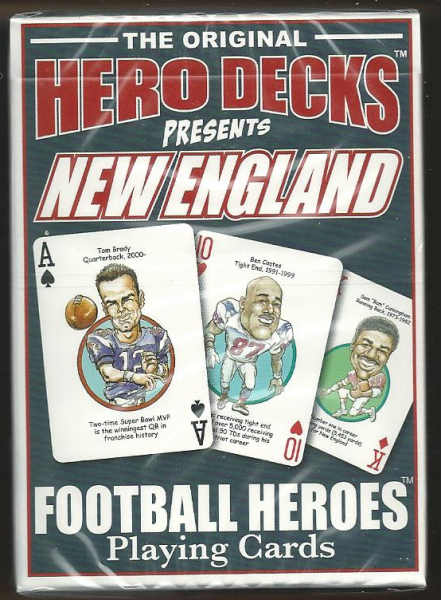 New England Patriots Hero Decks Playing Cards Poker Sized 52 Card Deck