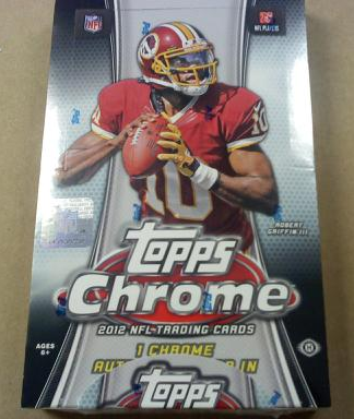 2012 Topps Chrome Football Hobby Box