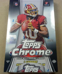 2012 Topps Chrome Football Hobby Box front image