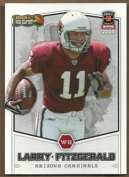 2011 Panini Player of the Day 2004 Rookie Rewind #RR1 Larry Fitzgerald