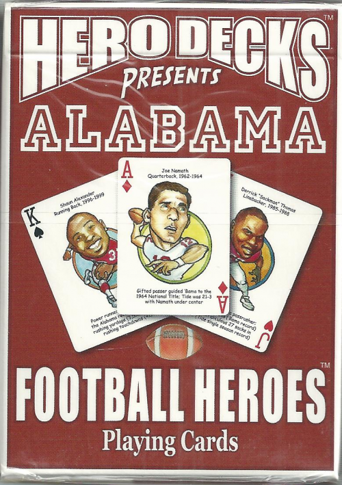 Alabama Crimson Tide NCAA Football Hero Decks Playing Cards Poker Sized 52 Card Deck
