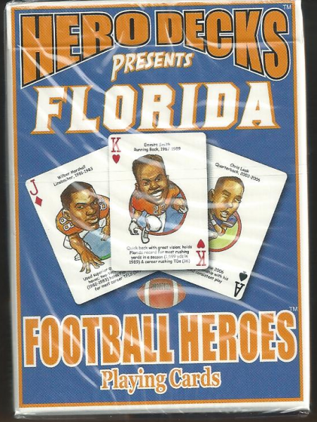 Florida Gators NCAA Football Hero Decks Playing Cards Poker Sized 52 Card Deck
