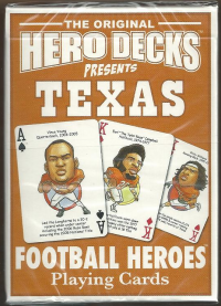 Texas Longhorns NCAA Football Hero Decks Playing Cards Poker Sized 52 Card Deck