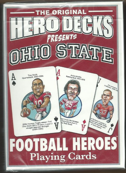 Ohio State Buckeyes NCAA Football Hero Decks Playing Cards Poker Sized 52 Card Deck