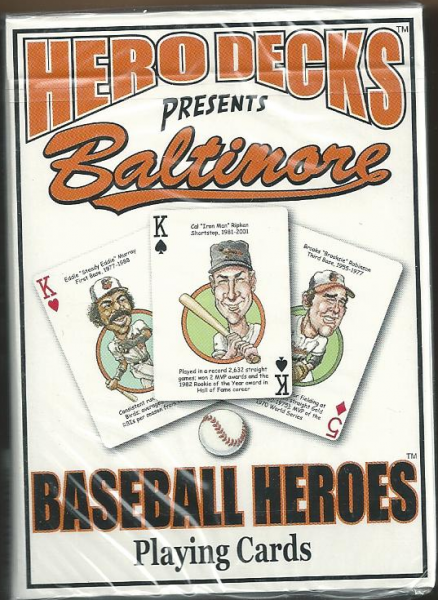 Baltimore Orioles MLB Baseball Hero Decks Playing Cards Poker Sized 52 Card Deck