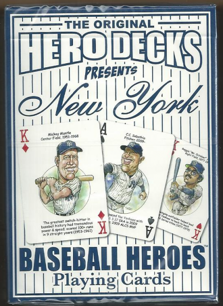 New York Yankees MLB Baseball Hero Decks Playing Cards Poker Sized 52 Card Deck