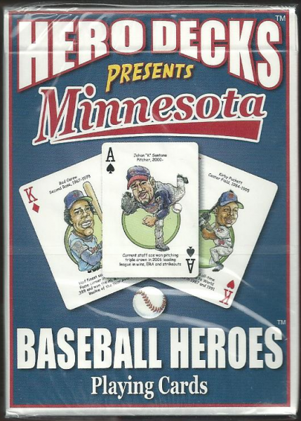 Minnesota Twins MLB Baseball Hero Decks Playing Cards Poker Sized 52 Card Deck