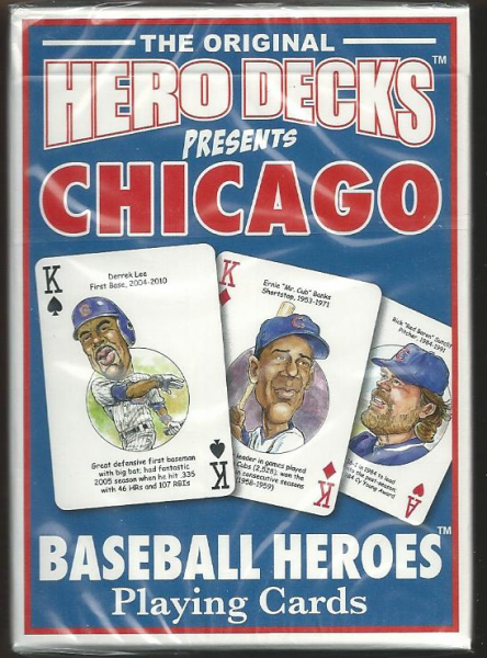 Chicago Cubs MLB Baseball Hero Decks Playing Cards Poker Sized 52 Card Deck