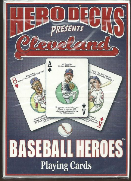 Cleveland Indians MLB Baseball Hero Decks Playing Cards Poker Sized 52 Card Deck