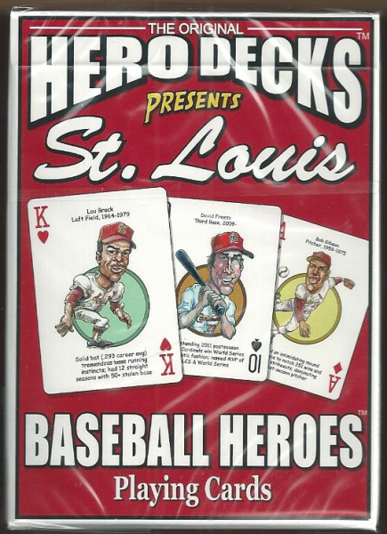 St. Louis Cardinals MLB Baseball Hero Decks Playing Cards Poker Sized 52 Card Deck