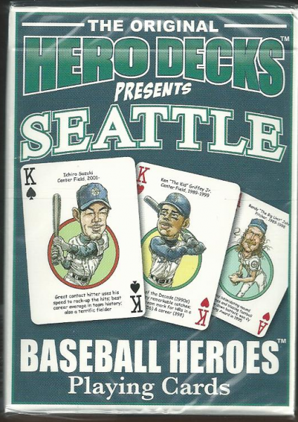 Seattle Mariners MLB Baseball Hero Decks Playing Cards Poker Sized 52 Card Deck